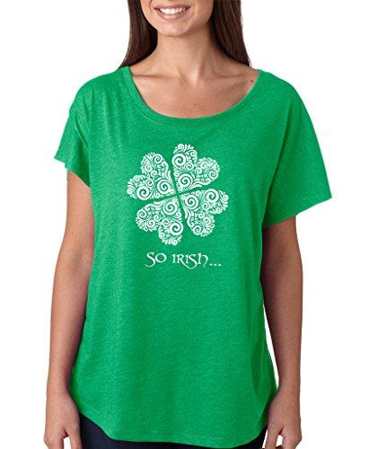 SignatureTshirts Women's Saint Patricks Day So Irish Dolman T-Shirt (White Print) 2XL Green ()