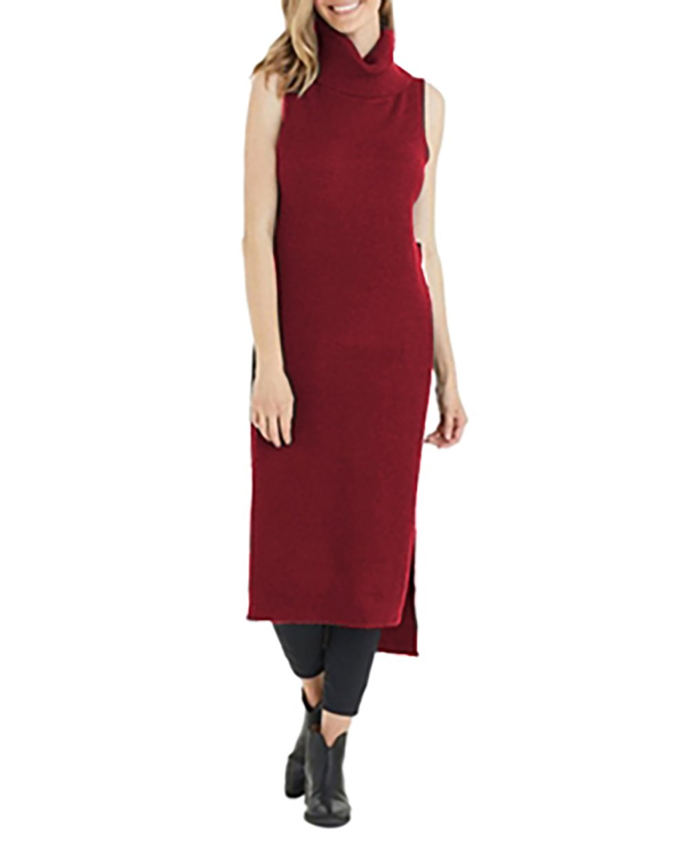 Love Token Camille Open Sides Top In Burgundy (Large)