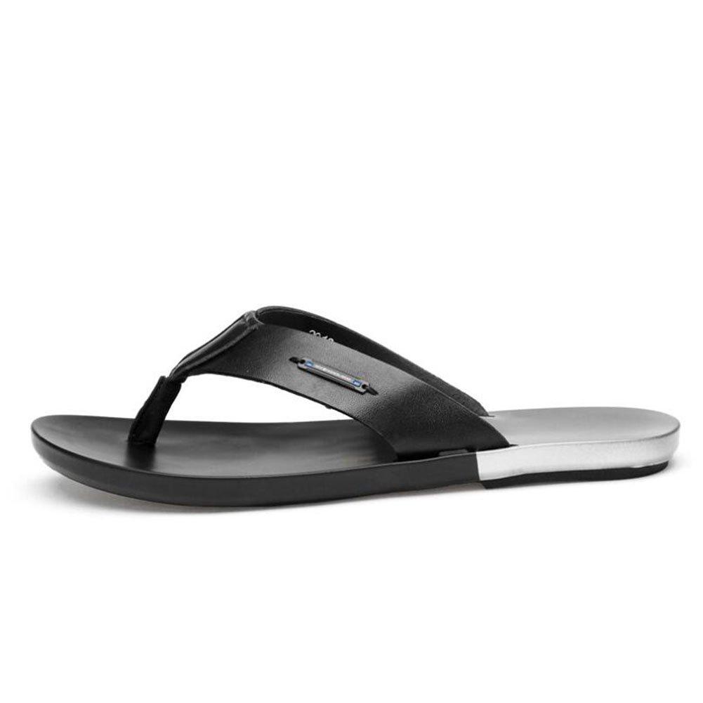 CAI Herren Leder/Flip-Flops 2018 Sommer Freizeit Wanderschuhe/Strand : Hausschuhe und Flip-Flops (Farbe : Wanderschuhe/Strand Schwarz, Größe : 40) Schwarz 6e4429