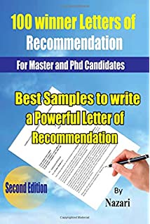 100 winner letters of recommendation for master and phd candidates best samples to write