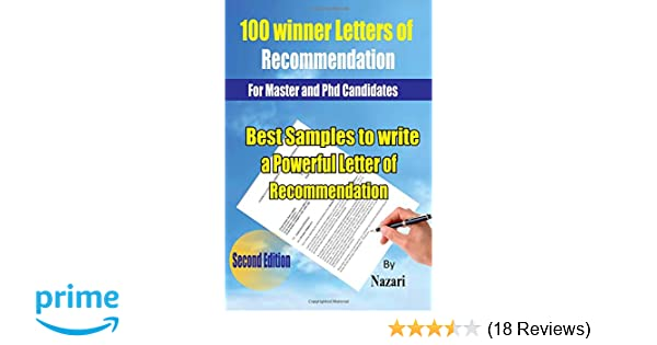 100 winner letters of recommendation for master and phd candidates best samples to write a powerful letter of recommendation gholamreza nazari