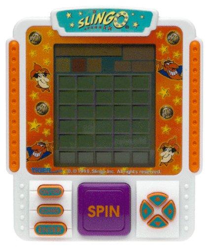 Slingo Handheld Bingo Slot Machine Electronic Game by Tiger Electronics