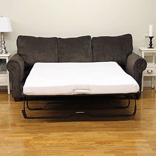 (Classic Brands 4.5-Inch Memory Foam Replacement Mattress for Sleeper Sofa Bed, Queen)