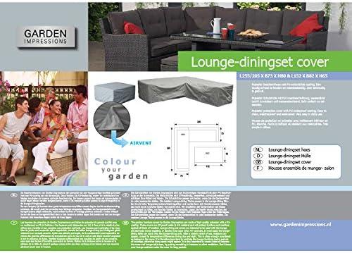 Grau Garden Impressions Schutzh/ülle Lounge//Dinner Rechts 255-205 x 73 x 80 cm und 152 x 82 x 65 cm