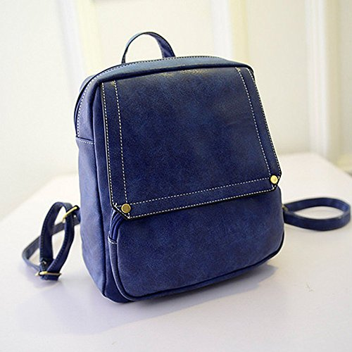 Remeehi - Bolso mochila  para mujer, rosa roja (rojo) - JXQ01961-4 azul