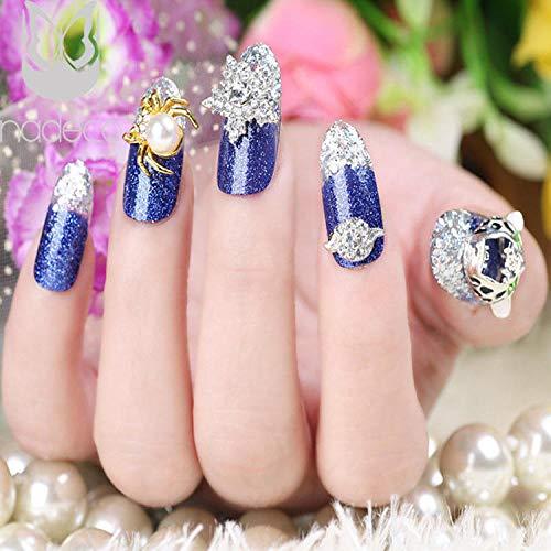 Glitter Nail Sticker Diamond Long Jewelry Bride's Beautiful Fake Nail@HC09-WD-032