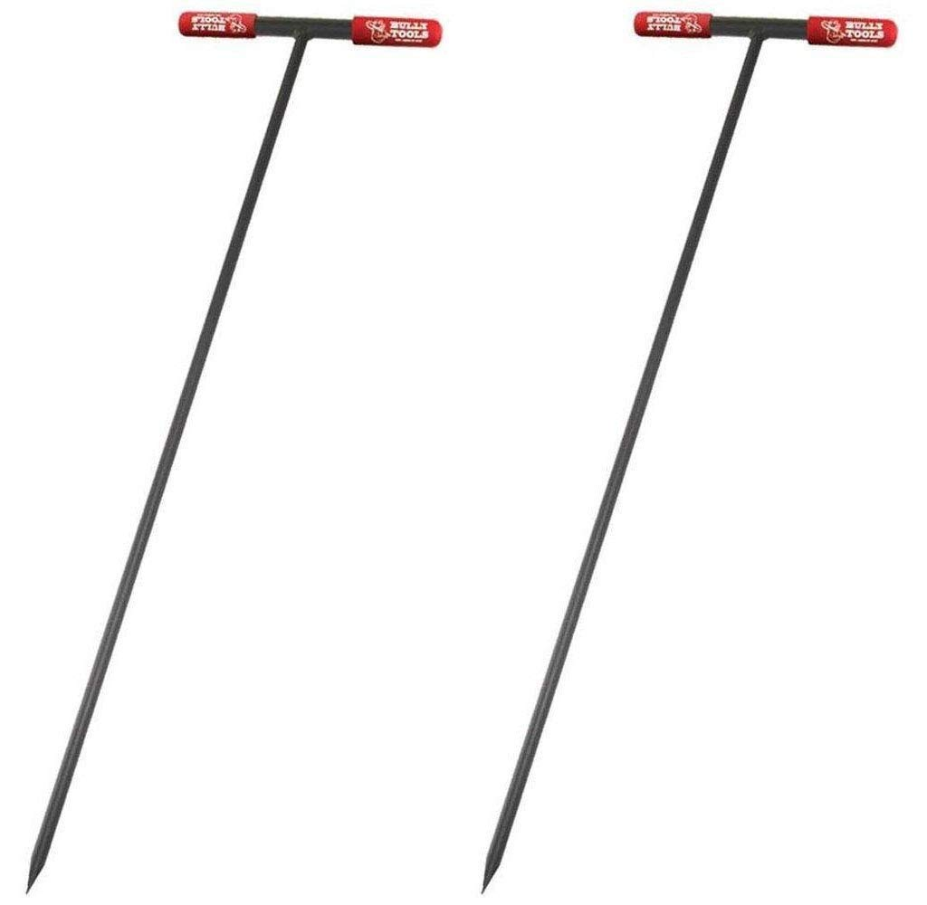 Bully Tools 99203 Soil Probe Steel Tstyle Handle, 48_inch (Pack of 2)