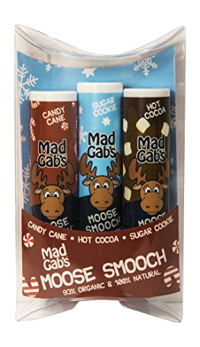 Mad Gab's 3-Piece Natural & Organic Moose Smooch Holiday Gift Set made in New England