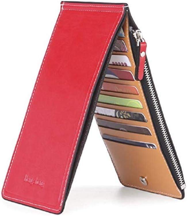 Ducomi® - Cartera con tarjetero para 18 tarjetas, unisex, con cremallera, con monedero, billetera, para regalo, original, para Navidad, de hombre y mujer
