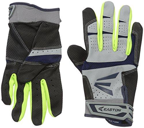 Easton HS9 Neon Batting Gloves, Grey/Navy, Small
