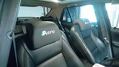 Amazon.com: RedlineGoods cubierta de reposacabezas Compatible con Saab 9-5 1997-10. Alcantara Negra Costura Azul: Automotive