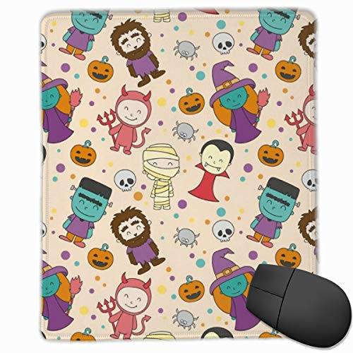 Daisysky Halloween Masquerade for Kids Household Mouse Mat Cute 10 X 12 X 0.12 Thicken Small Skin-Friendly Non-Slip Package Edge