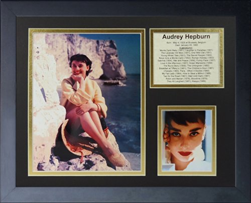Legends Never Die Audrey Hepburn Framed Photo Collage, 11 by 14-Inch
