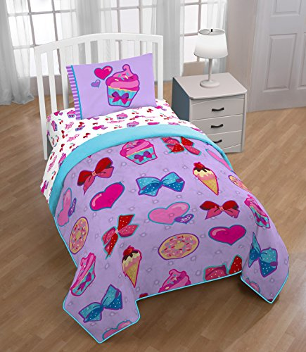 Nickelodeon JoJo Siwa Bowlicious Twin Quilted Bed Spread (Official JoJo Siwa Product) by Nickelodeon