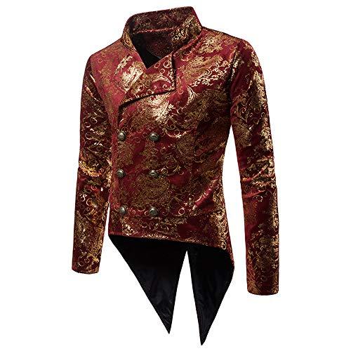 Jacquard Veste Fête Homme Slim Tuxedo Soirée Bouton Un Floral Affaires Costume Jacket Vertvie Fit Blazer Pour Manteau Rouge Cocktail nTXS45dq