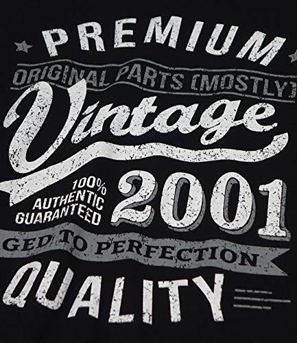 Homme Noir 2001 To Year Cadeaux Aged Vintage shirt Perfection 18 T Anniversaire Ans 884wAHqx