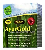AyurGold for Healthy Blood Sugar, 60 Capsules