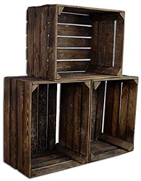 set chiccie vintage caja de madera viejo caja de fruta caja de vino
