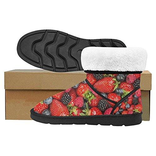 Snow Snow Da Donna Interesse Design Unico Comfort Invernale Stivali Frutti Di Bosco Multi 1