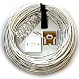 LOOPS 25M BT Telephone Master Socket/Box Line Extension Cable Kit - 10m 15m 20m Lead