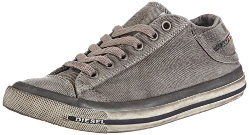 (#Diesel Exposure Low I Gunmetal Mens Trainers Shoes-11)