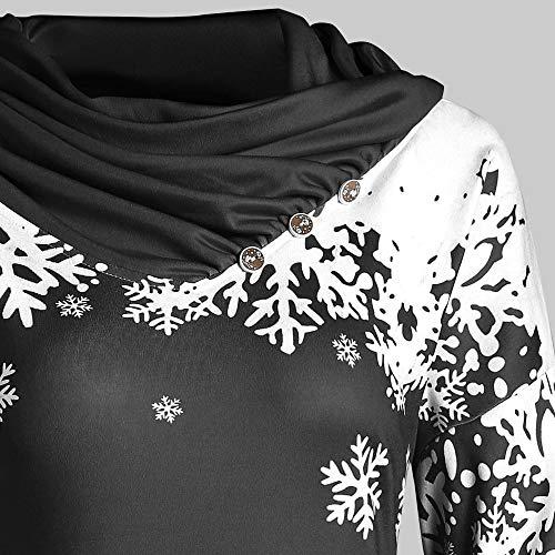 Col Hiver Paolian Mignon Pull L'automne xxl De Flocon m Chaud Confortable xl Imprimer s Neige Collier Long l Roulé L'hiver Automne Sweat Mode Et Noël Féminin Foulard À U0qUwZxrO