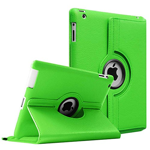 Fintie iPad 2/3/4 Case - 360 Degree Rotating Stand Smart Case Cover for Apple iPad with Retina Display (iPad 4th Generation), the new iPad 3 & iPad 2 (Automatic Wake/Sleep Feature) - Green