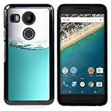 S-type Water Sea Aquarium Grey White Liquid - Colorful Printed Hard Protective Back Case Cover Shell Skin For LG GOOGLE NEXUS 5X H790