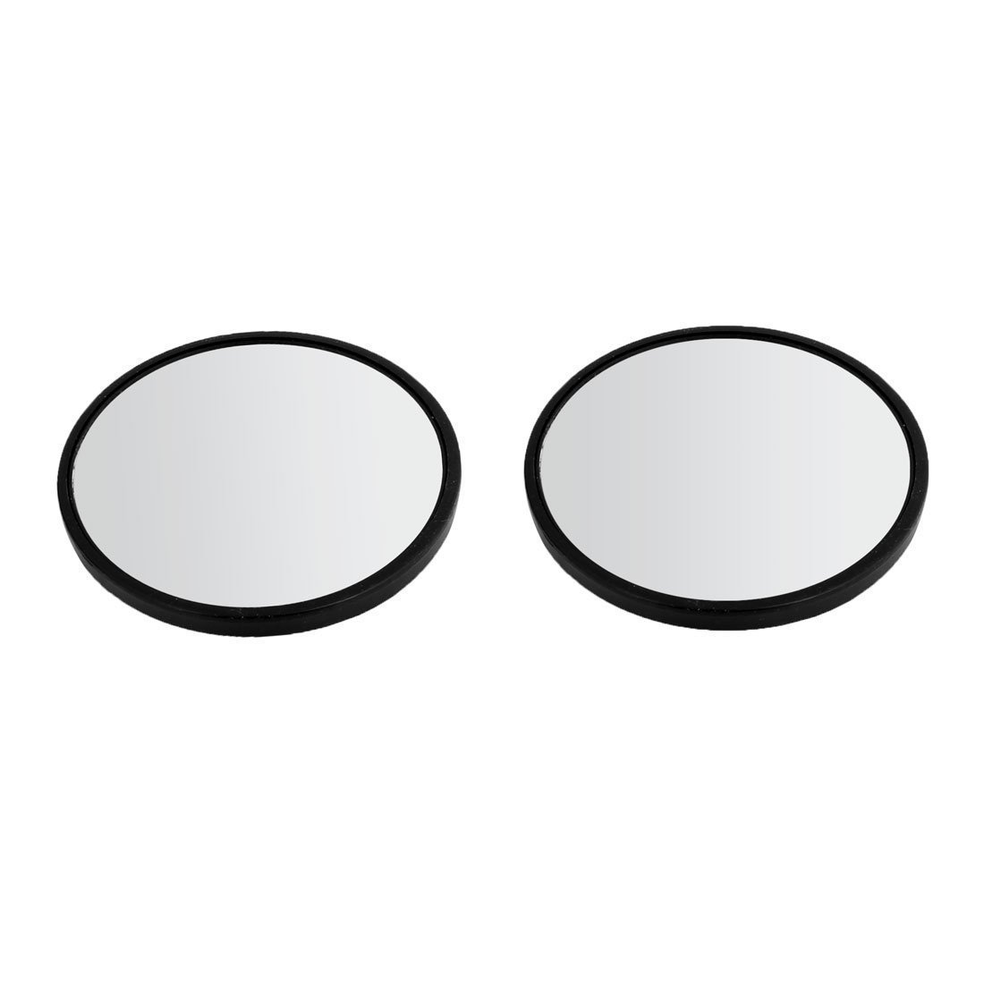 Blind Spot Mirror - TOOGOO(R) 2'' Dia Black Frame Round Rearview Blind Spot Mirror Rearmirror for Car