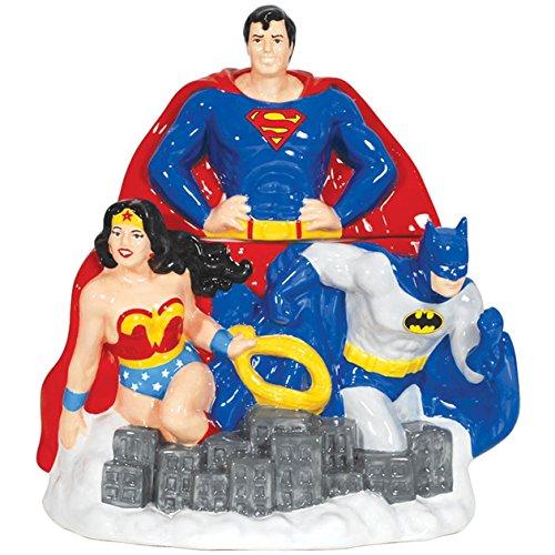 Westland Giftware Ceramic Cookie Jar, 11.5-Inch, DC Comics Super Heroes - Kitchen Collectibles Cookie Jars