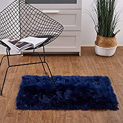 Ashler Soft Faux Sheepskin Fur Chair Couch Cover Area Rug for Bedroom Floor Sofa Living Room