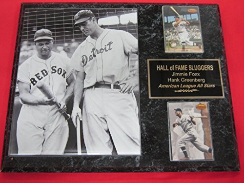 Jimmie Foxx Hank Greenberg 2 Card Collector Plaque w/8x10 VINTAGE Photo