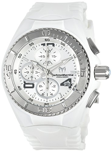 Technomarine Women's 'Cruise' Quartz Stainless Steel and Silicone Casual Watch, Color:White (Model: TM-115102)