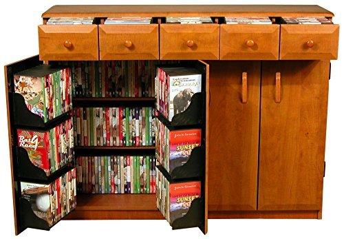 Amazon.com: Venture Horizon Media Cabinet With Drawers  Cherry: Kitchen U0026  Dining