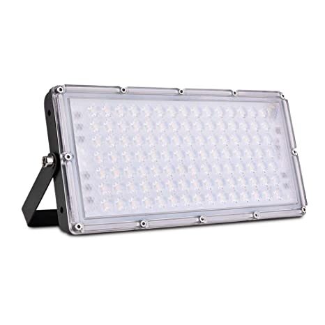 100W Focos LED Exterior, Sararoom Floodlight 180° Ultrafino ...