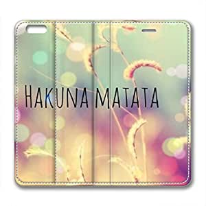 iCustomonline Keep Calm and Hakuna Matata PU Leather Standup Case for iPhone 6 Plus(for 5.5 inch)