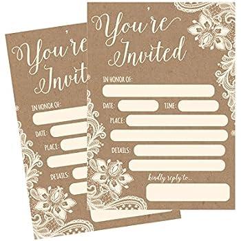 amazon com country rustic sunflower invitations rustic elegant