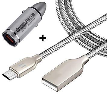 I.®] Coche Cargador rápido + 1 m Cable de Carga Cable de ...