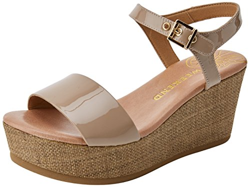 WEEKEND Platform Sandals Women's 16579 PEDRO Garbanzo Beige BY MIRALLES wrqXCw