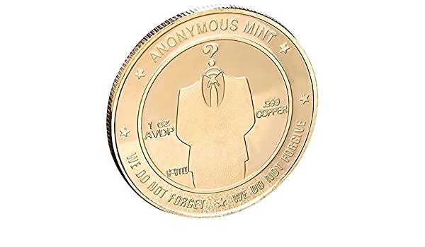 GEEKSLIFE Moneda Conmemorativa Anónimo - Somos Legión - 002: Amazon.es: Joyería
