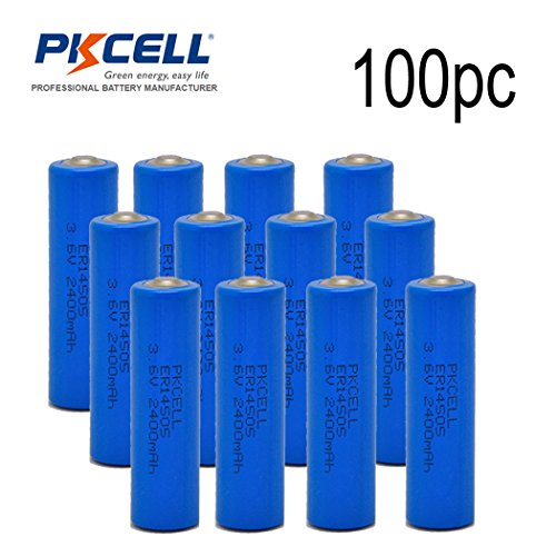 100pcxAA 3.6V 14500 Lithium Battery - (non Rechargeable) by PK Cell