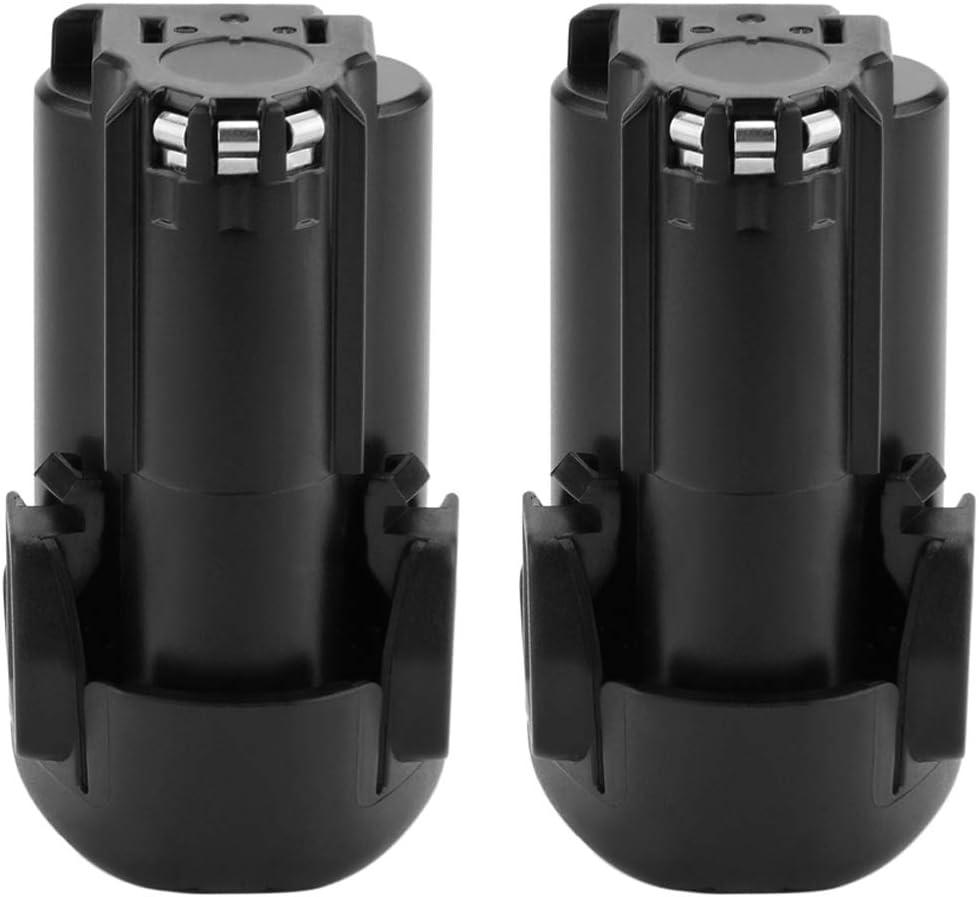 2 Pack Exmate 12V 2.5Ah Lithium Battery Compatible with Black and Decker BL1110, BL1310, BL1510, LB12, LBX12, LBXR12