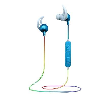 Sencillo Vida Auriculares Bluetooth 4.1 Cascos inálambrico Luminiscente Deportivos Sonido Estéreo iPhone, Samsung, Huawei