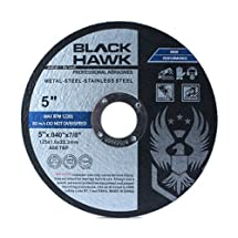 "25 Pack Black Hawk 5"" x .040 x 7/8"" Arbor Metal & Stainless Steel Cut Off Wheels - Ultra Thin Discs"