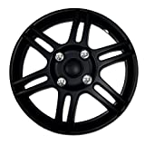 hyundai 14 wheel cover - TuningPros WSC-004B14 Hubcaps Wheel Skin Cover 14-Inches Matte Black Set of 4