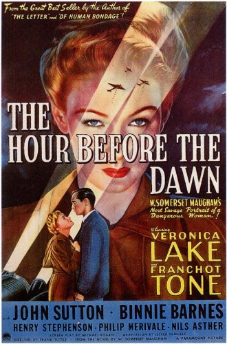 The hour before dawn Veronica Lake movie poster print