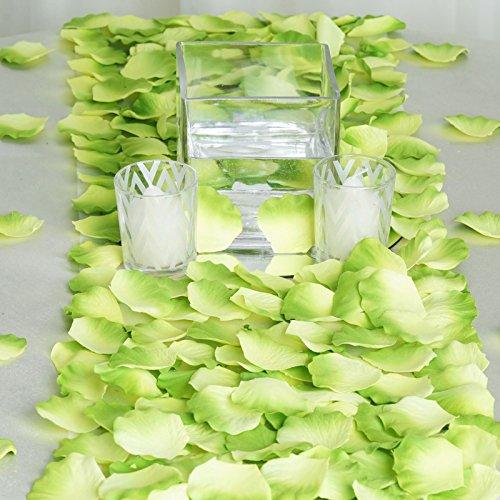 BalsaCircle 2000 Sage Green Silk Artificial Rose Petals Wedding Ceremony Flower Scatter Tables Decorations Bulk Supplies Wholesale