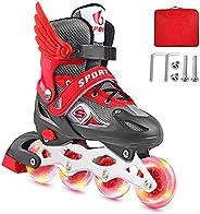 Adjustable Inline Skates for Girls Boys Kids Beginners, Roller Blades with Full Light Up Wheels, Blades Roller