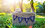 Leowefowa 5X3FT Sweet Baby Shower Backdrop Shabby Straw Basket with Hat Outdoor Backdrops for Photography Forest Trees Blurry Green Grassland Nature Vinyl Photo Background Boys Girls Studio Props
