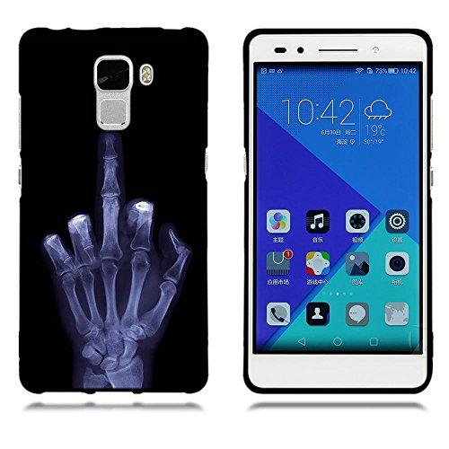 Funda Huawei Honor 7, FUBAODA [Flor rosa] caja del teléfono elegancia contemporánea que la manera 3D de diseño creativo de cuerpo completo protector Diseño Mate TPU cubierta del caucho de silicona sua pic: 11